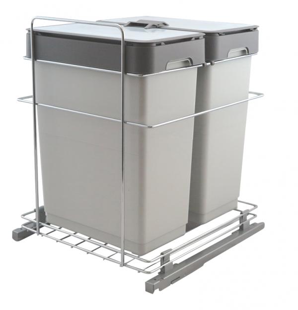 Afvalemmer Copa A-6020. 60 liter. Front en draaideur toepassing