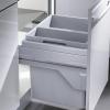 3610-52 Hailo afvalemmer CS Slide euro-Cargo-front 49 liter inbouw