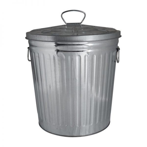 Afvalbak zilver - 7 liter - Xenos