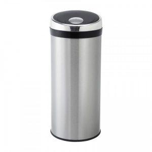 Afvalemmer push - 40 liter - zilverkleurig - Xenos