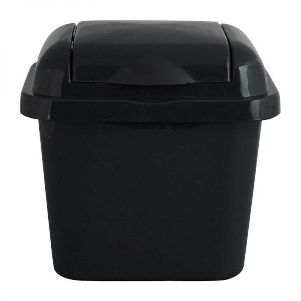 Mini afvalbakje - grijs - 14x16x16 cm - Xenos