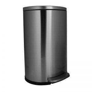 Pedaalemmer D-vorm - zilverkleurig - 40L - Xenos
