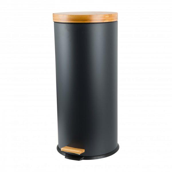 Pedaalemmer met bamboe deksel - 30 liter - Xenos