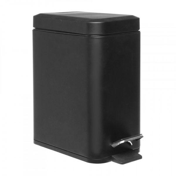 Pedaalemmer rechthoek - 5 liter - zwart - Xenos
