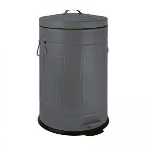 Pedaalemmer retro look - grijs - 12 liter - Xenos