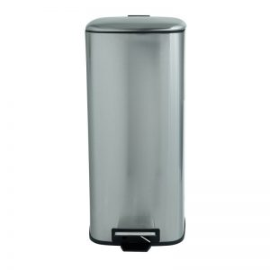 Pedaalemmer vierkant - zilver - 30 liter - Xenos