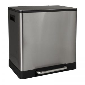 Pedaalemmer - zilverkleurig - 2x20L - Xenos