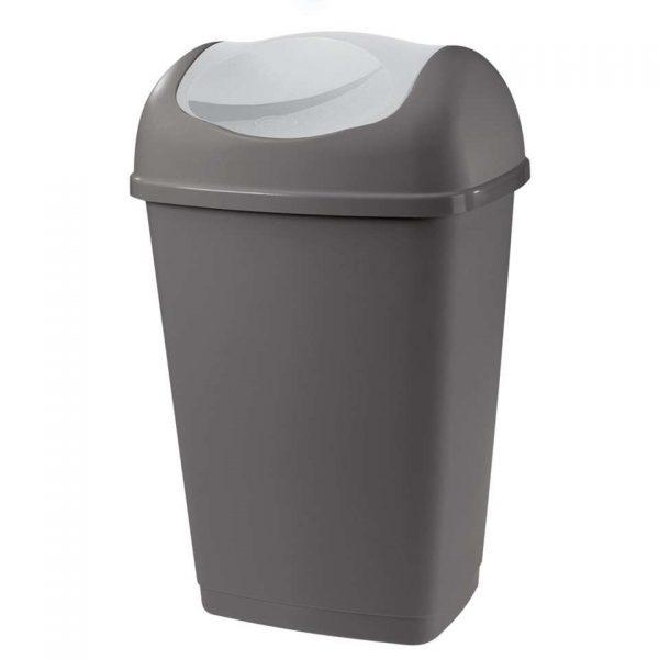 Afvalbak Grace - antraciet - 25l - Leen Bakker