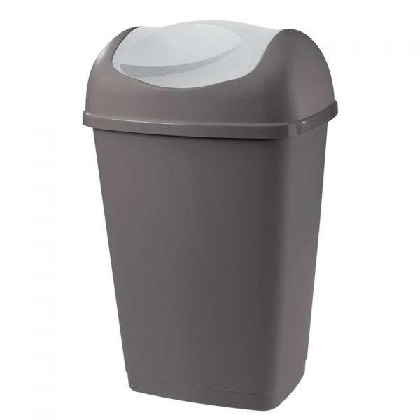 Afvalbak Grace - antraciet - 50l - Leen Bakker