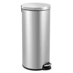 EKO pedaalemmer Serene - zilverkleurig - 30l - Leen Bakker