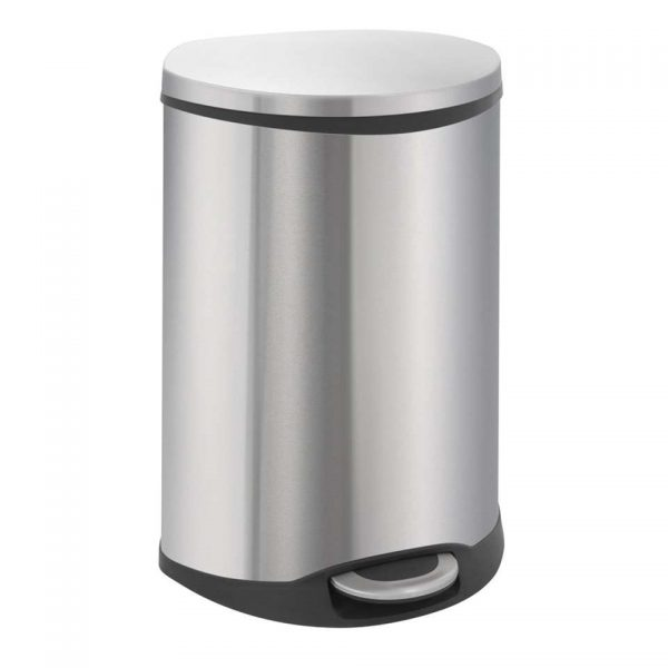 EKO recycling pedaalemmer Shell Bin - zilverkleurig - 2x22l - Leen Bakker