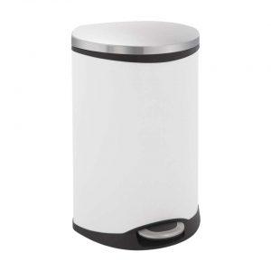 EKO recycling pedaalemmer Shell Bin - wit - 2x22l - Leen Bakker