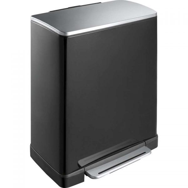 EKO recycling pedaalemmer E-Cube - zwart - 28+18l - Leen Bakker