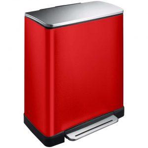EKO recycling pedaalemmer E-Cube - rood - 28+18l - Leen Bakker