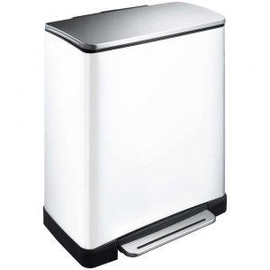 EKO recycling pedaalemmer E-Cube - wit - 28+18l - Leen Bakker