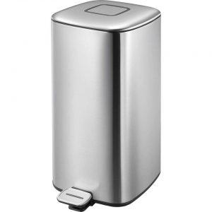 EKO pedaalemmer Regent - zilverkleurig - 32l - Leen Bakker
