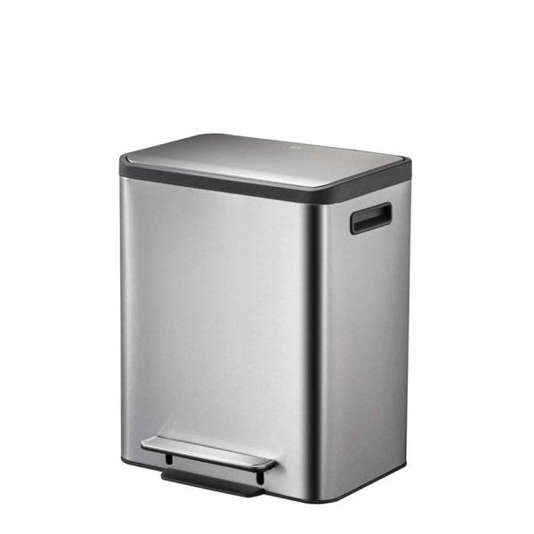 EKO recycling pedaalemmer EcoCasa - zilverkleurig - 2x15l - Leen Bakker