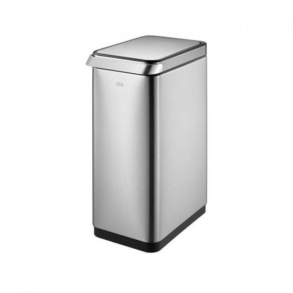 EKO afvalbak Touch Bar - zilverkleurig - 30l - Leen Bakker