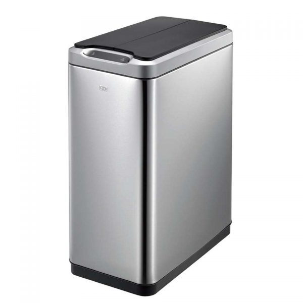 EKO recycling sensor afvalbak Phantom - zilverkleurig - 2x20l - Leen Bakker