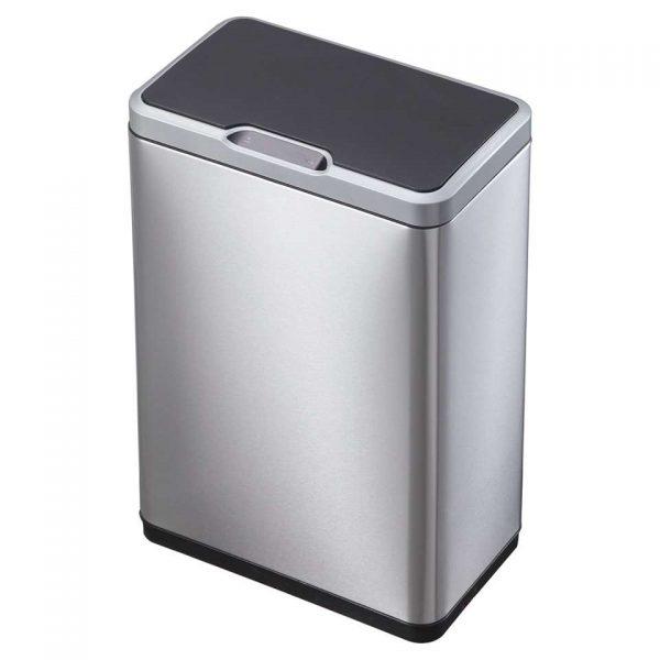 EKO recycling sensor afvalbak Mirage - zilverkleurig - 2x20l - Leen Bakker