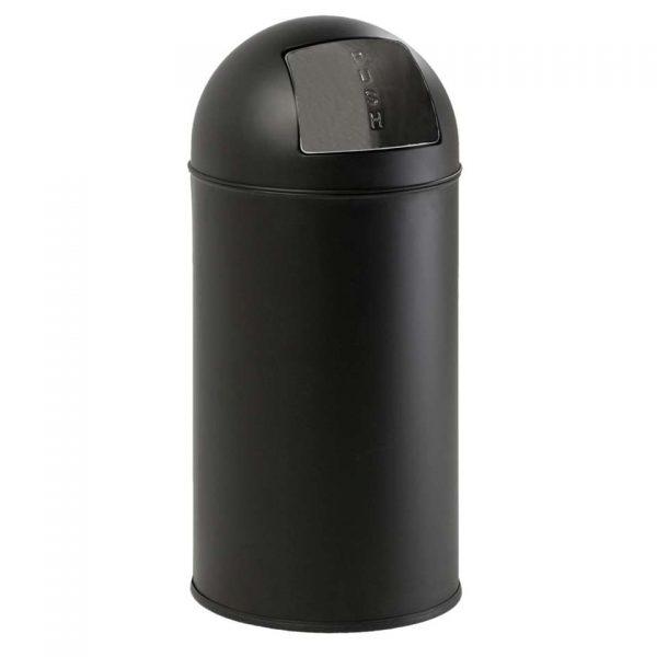 EKO afvalbak Pushcan - mat zwart - 40l - Leen Bakker