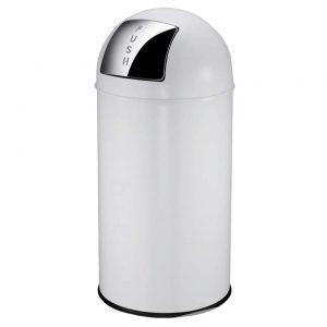 EKO afvalbak Pushcan- wit - 40l - Leen Bakker