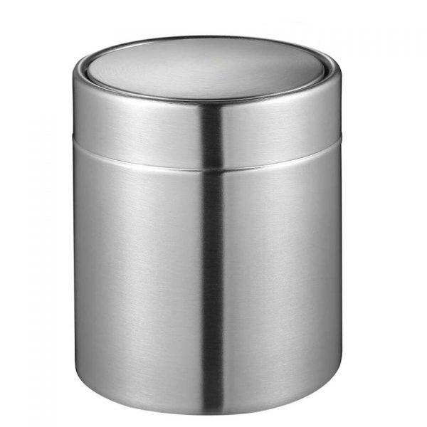 EKO tafelafvalbakje Fandy - zilverkleurig - 1