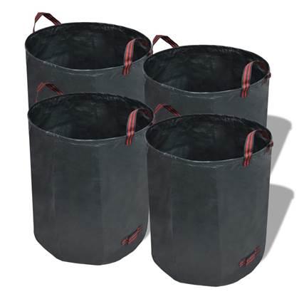 vidaXL Tuinafval zak Groen 120L 150 g/vierkante meter (4 stuks)