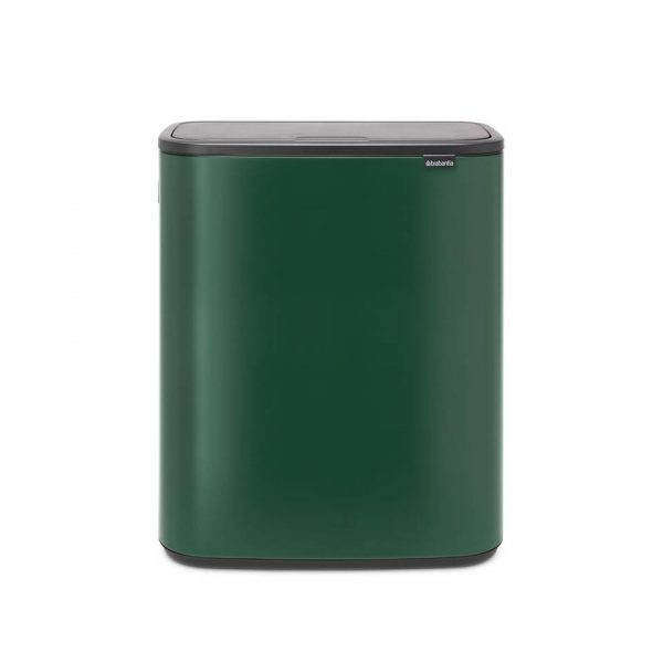 Brabantia Bo Touch Bin afvalemmer 2 x 30 liter met 2 kunststof binnenemmers - Pine Green