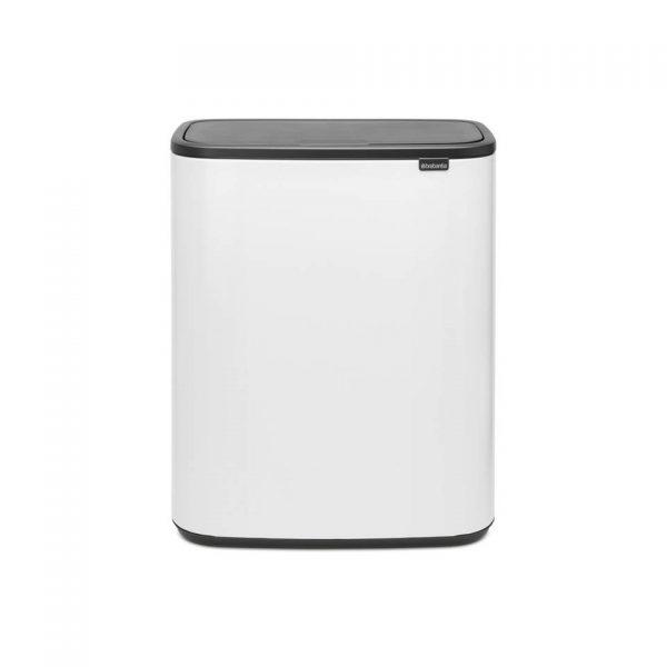 Brabantia Bo Touch Bin afvalemmer 2 x 30 liter met 2 kunststof binnenemmers - White