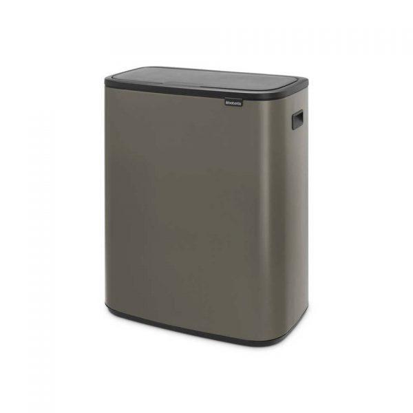 Brabantia Bo Touch Bin afvalemmer met kunststof binnenemmer - 60 liter - Platinum