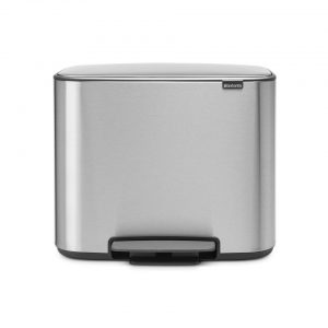 Brabantia Bo pedaalemmer - 11 + 23 l - Matt Steel Fingerprint Proof