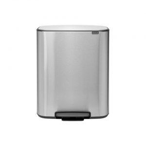 Brabantia Bo pedaalemmer 60 liter met kunststof binnenemmer - Matt Steel Fingerprint Proof