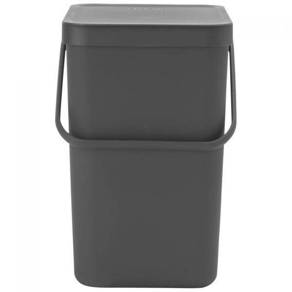 Brabantia Sort & Go afvalemmer 25 liter - Grey