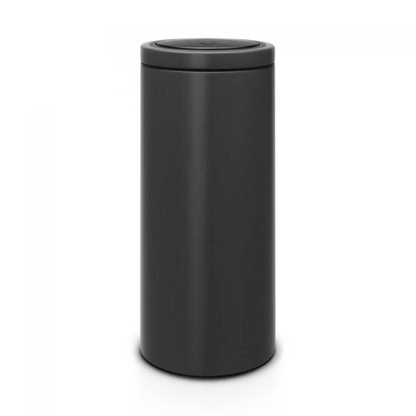Brabantia Touch Bin Flat Top - 30L - Infinite Grey - met speciale structuurlak