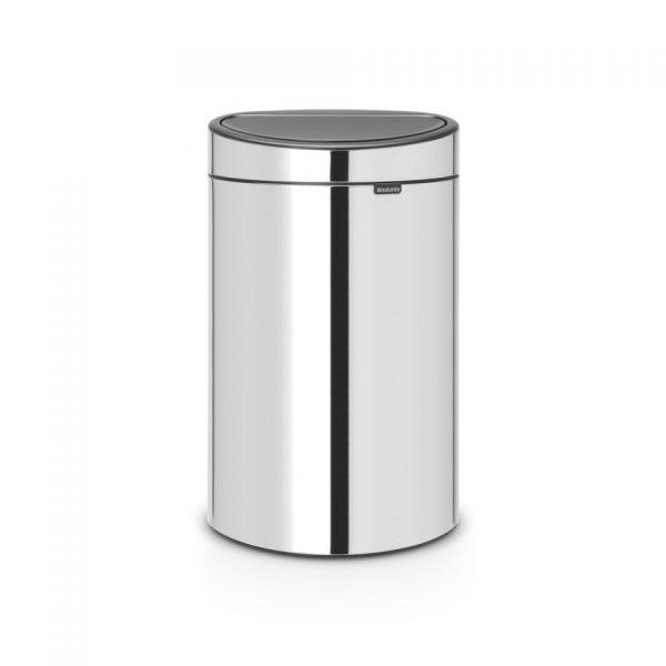 Brabantia Touch Bin Recycle prullenbak - 23/10 L - Brilliant Steel
