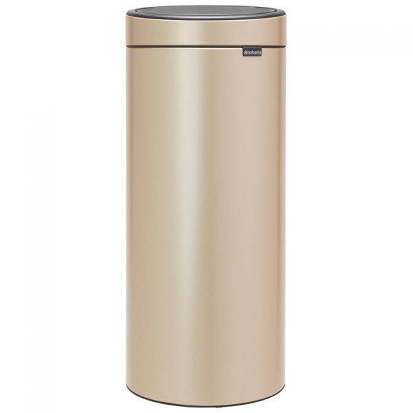Brabantia Touch Bin afvalemmer 30 liter met kunststof binnenemmer - Champagne