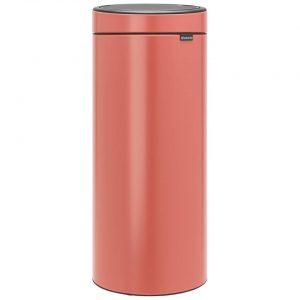 Brabantia Touch Bin afvalemmer 30 liter met kunststof binnenemmer - Terracotta Pink