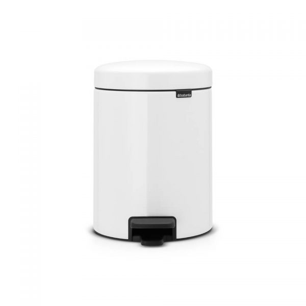 Brabantia newIcon pedaalemmer 2 x 2 liter met 2 kunststof binnenemmers - White