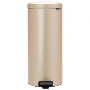 Brabantia newIcon pedaalemmer 30 liter met kunststof binnenemmer - Champagne
