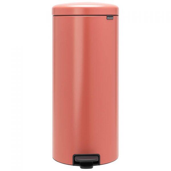 Brabantia newIcon pedaalemmer 30 liter met kunststof binnenemmer - Terracotta Pink