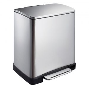 EKO E-Cube pedaalemmer - 20L - mat RVS