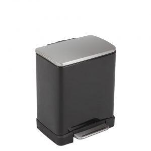 EKO E-Cube pedaalemmer afvalscheider - 10 + 9L - zwart
