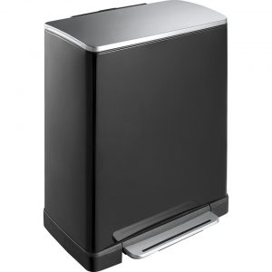 EKO E-Cube pedaalemmer afvalscheider - 28 + 18L - zwart