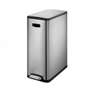 EKO Ecoslim pedaalemmer afvalscheider - 2 x 20L - mat RVS