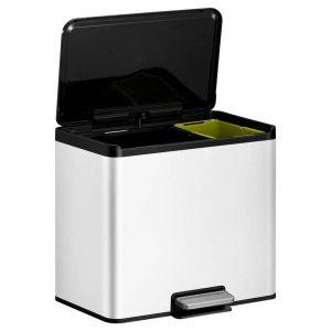 EKO Essential Recycler pedaalemmer afvalscheider - 20 + 9L - wit