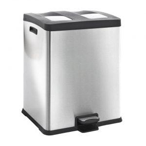 EKO Rejoice pedaalemmer afvalscheider - 2 x 30L - mat RVS