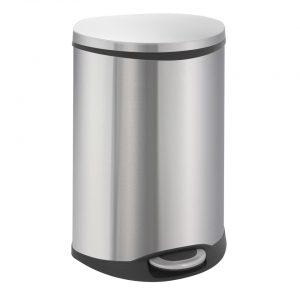 EKO Shell pedaalemmer afvalscheider - 2 x 22L - mat RVS