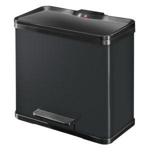 Hailo Öko Trio Plus afvalscheider - maat L - 3 x 9 liter - zwart