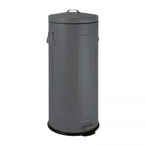 Pedaalemmer retro look - grijs - 30 liter - Xenos